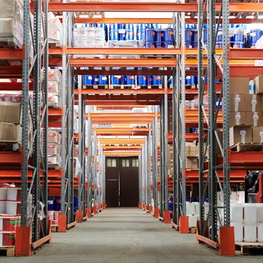 A warehouse full of stock for distibution